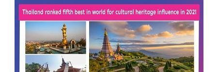 Thailand ranked fifth best in world for cultural heritage influence in 2021